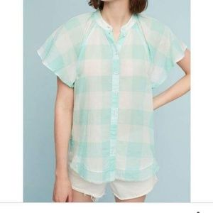NWOT Flowy Anthropologie Checkerboard Blouse